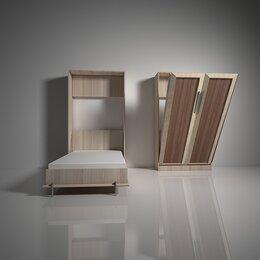 Кровати - Кровать с подъемным механизмом шкаф-трансформер…, 0