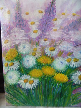 "Картины, постеры, гобелены, панно - ""Цветочная поляна"", 0"