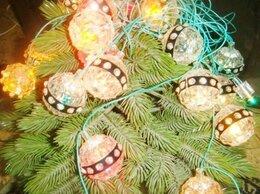 Новогодний декор и аксессуары - Электрогирлянда цветные фонарики винтаж 80х, 0