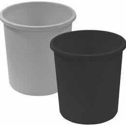 Корзины, коробки и контейнеры - Корзина д/бум 18л черн цельная КР41 Стамм /10, 0