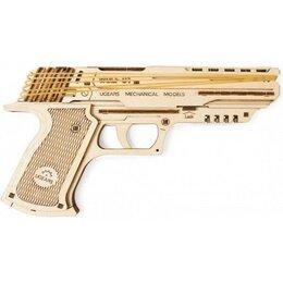 Сборные модели - Пистолет Вольф-01, деревянный конструктор Ugears, 0