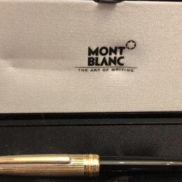 Подарочные наборы - Шариковая ручка Montblanc meisterstuck solitaire с серебряной верхней частью, 0