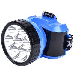 Фонари - Фонарь налобный Smartbuy SBF-24-B, аккумуляторный, светодиодный, 7 LED, синий, 0