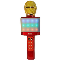 Микрофоны - Светящийся караоке-микрофон WS 1828 Красный, 0