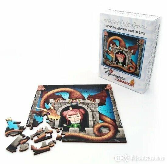 """Фигурный деревянный пазл """"Принцесса и Дракон"""" по цене 370₽ - Развивающие игрушки, фото 0"""