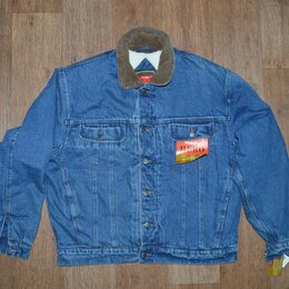 Куртки - Куртка джинсовая Wrangler Hero Sherpa, на меху, 0