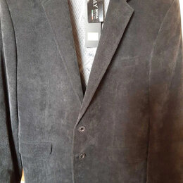 Пиджаки - Продам пиджак мужской, вельвет, темно серый, 170-108-98., 0