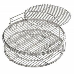 Решетки - Набор многоуровневых стальных решеток для гриля ХL, 5 частей Big Green Egg, 0