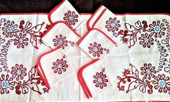 Скатерть-дорожка-рушник, ЛЕН+6 салфеток по цене 1500₽ - Скатерти и салфетки, фото 0