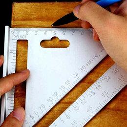 Измерительные инструменты и приборы - Метрический угольник Свенсона (18 см и большой 30 см), 0