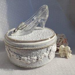 Шкатулки - Шкатулка для украшений с хрустальной туфелькой, 0