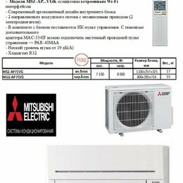 Кондиционеры - Сплит-система Mitsubishi Standart Inverter AP…, 0