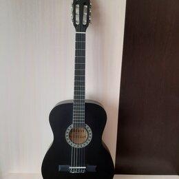 Акустические и классические гитары - Классическая чёрная матовая гитара, 0