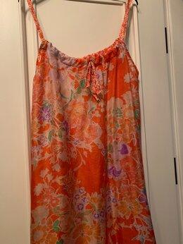 Пляжная одежда - Пляжное платье, 46 размер. Шелк, 0