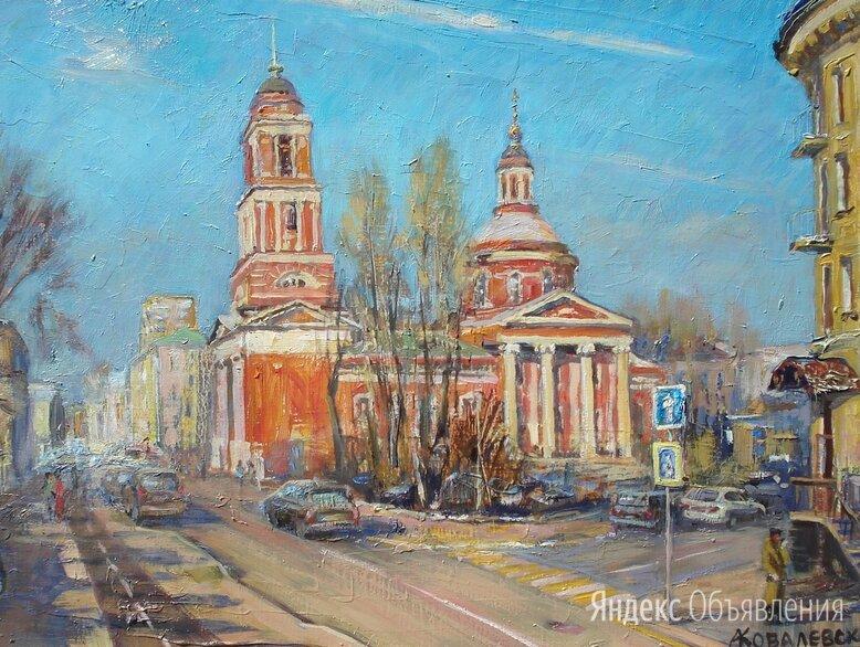 Церковь Троицы Живоначальной по цене 34000₽ - Картины, постеры, гобелены, панно, фото 0