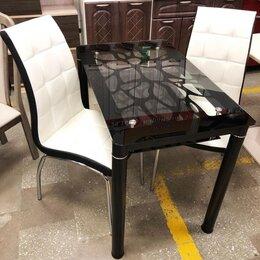 Мебель для кухни - Обеденный чёрный Стеклянный стол, 0