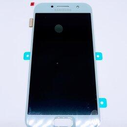 Дисплеи и тачскрины - Дисплей Samsung A320 Galaxy A3 2017 модуль голубой Blue GH97-19732C Оригинал, 0