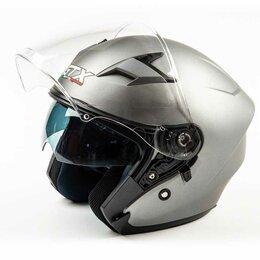 Мотоэкипировка - Шлем мото открытый GTX 278 (S) #1 Metal Titanium (2 визора), 0