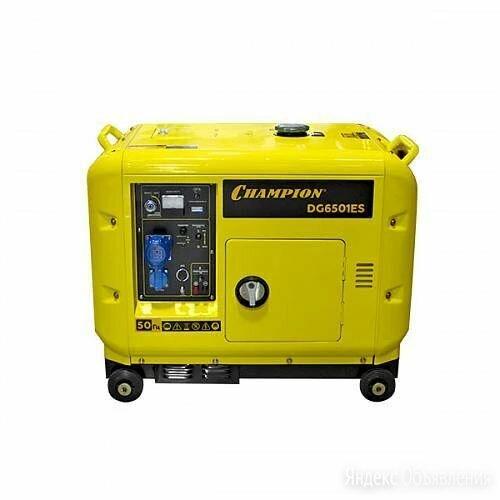 Дизельный генератор CHAMPION DG6501ES +ATS в шумозащитном кожухе по цене 98000₽ - Электрогенераторы и станции, фото 0