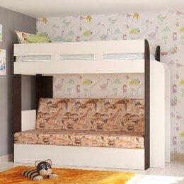 """Кроватки - 2-ярусная кровать-диван """"Карамель 75"""", 0"""