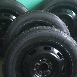 Шины, диски и комплектующие - Колеса, зимняя липучка на стальных дисках, 0