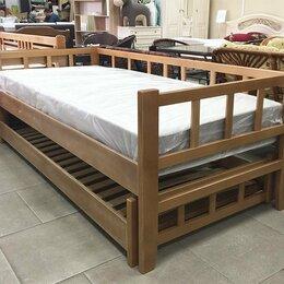 Кровати - Кровать двойная выкатная массив бука, 0