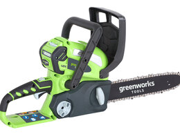 Электро- и бензопилы цепные - Аккумуляторная цепная пила Greenworks G40CS30K3, 0