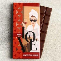 Продукты - Шоколад молочный Love, 85 гр., 0