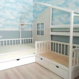 Кроватки - Угловая Кровать домик, 0