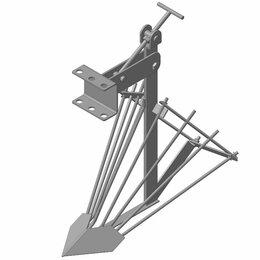 Навесное оборудование - Картофелекопалка, стойка 10*500 мм. ширина 430 мм. со сцепкой, 0