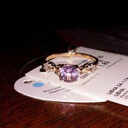 Кольца и перстни - Золотое кольцо с Аметистом 17,5 размер, 0