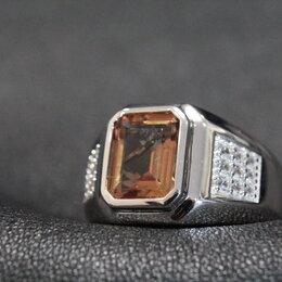Кольца и перстни - Перстень мужской с султанитом, 0
