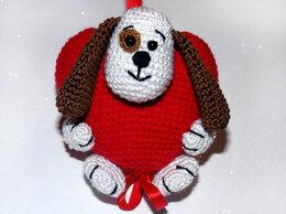 Мягкие игрушки - Подарок на День Святого Валентина. Вязаная…, 0