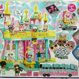 Игровые наборы и фигурки - Кукольный дом большой снежный замок + автобус, 0
