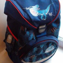 Рюкзаки, ранцы, сумки - Рюкзак школьный синий «Динозавры». Размер 38*32*22см. Новый, 0