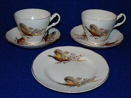 Кружки, блюдца и пары - Чайные пары Royal Stuart Костяной фарфор 1950-60гг, 0
