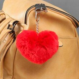 Брелоки и ключницы - Брелок-пушистик «Сердечко меховое», 0
