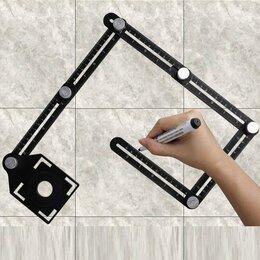 Аксессуары для укладки напольных покрытий - Инструмент для укладки плитки, шаблон для отверстий и углов, 0