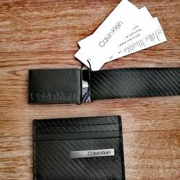 Визитницы и кредитницы - Набор визитница, ремень Calvin Klein , 0