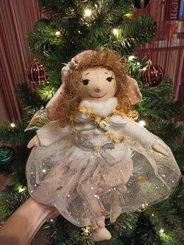 Сувениры - Авторская кукла Рождественский ангел, 0