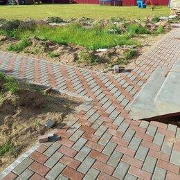 Тротуарная плитка, бордюр - Мощение брусчаткой, укладка тротуарной плитки, 0