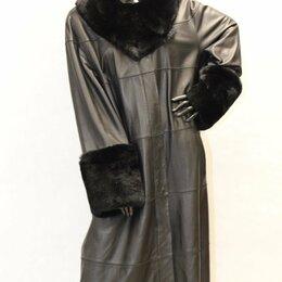 Пальто - Пальто из кожи с мехом рекса 54-56-58, 0