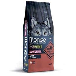 Корма  - Низкозерновой корм для взрослых собак всех пород Monge Dog BWild LOW GRAIN и..., 0