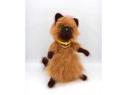 Статуэтки и фигурки - Интерьерная игрушка «Сиамский зеленоглазый кот», 0