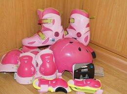 Роликовые коньки - Детские ролики размер 32-34 и защита, 0