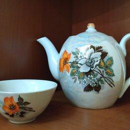 Заварочные чайники - Набор: заварочный чайник перламутр, на 1 литр, пиала 1 шт. , 0