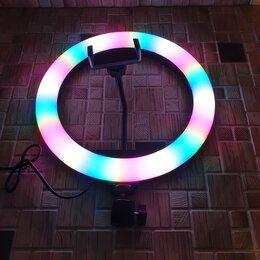 Осветительное оборудование - Кольцевая лампа  RGB (D-26см), 0