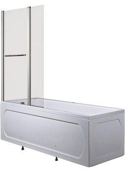 Шторы и карнизы - Шторка для ванны 1Marka P-07 95х150 матовая, 0