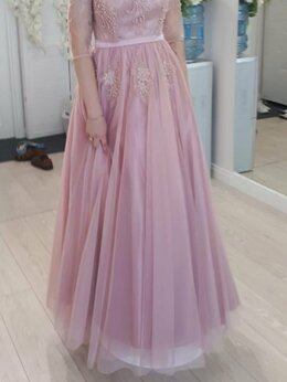 Платья - ВЫПУСКНОЕ платье цвета пудра, нежно-розовое на…, 0