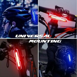 Фонари - Велосипедный фонарь красный синий задний ZH-1808…, 0